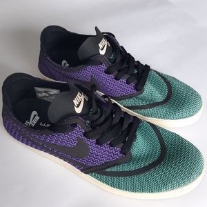 Nike SB Lunar Oneshot R/R Green Purple sz 9